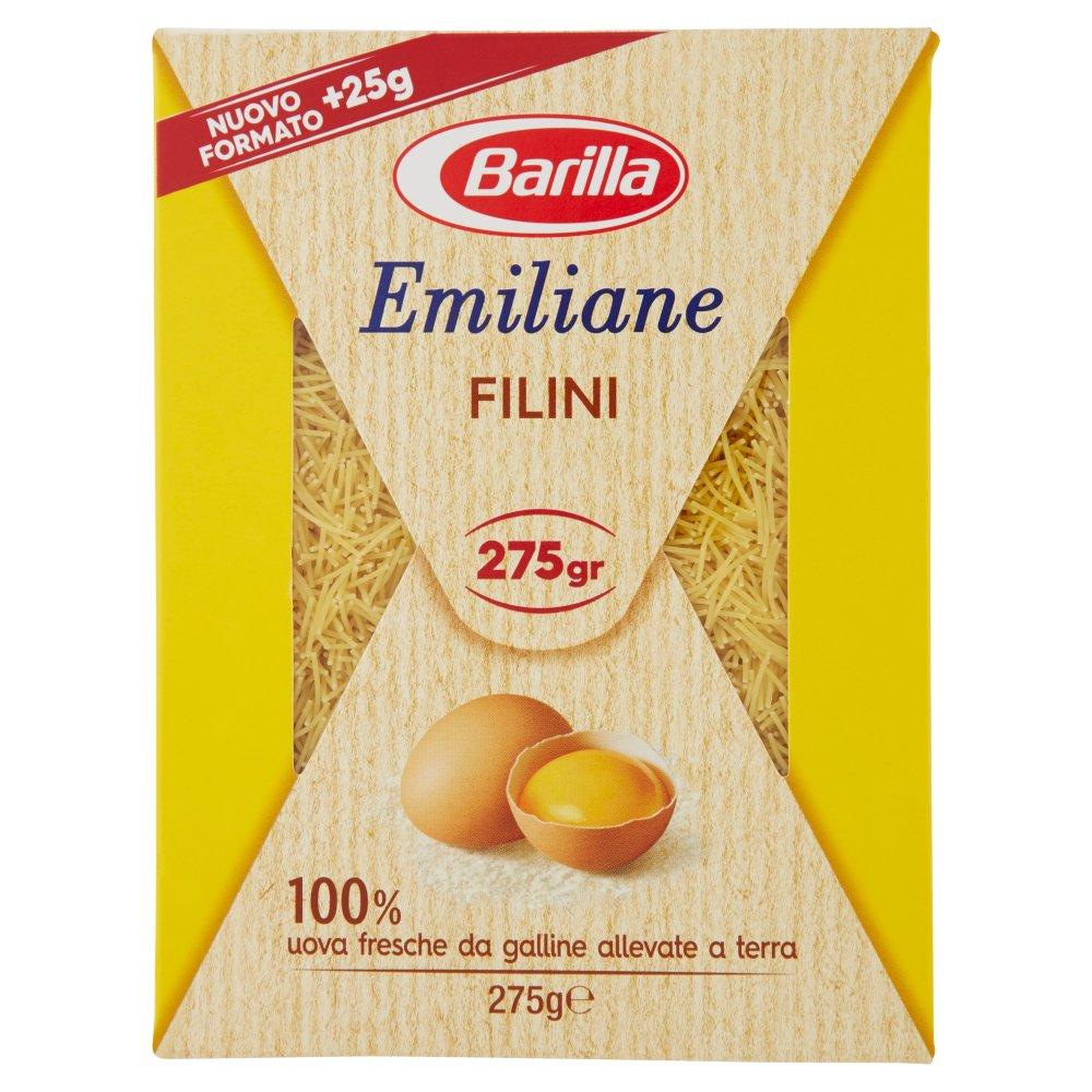 Barilla Emiliane Filini all'Uovo 275 g