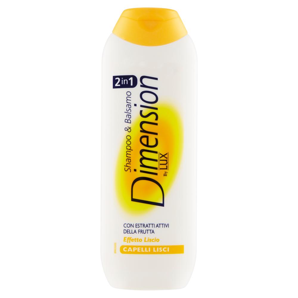 Dimension by Lux Shampoo & Balsamo 2in1 con Estratti Attivi della Frutta Capelli Lisci 250 ml