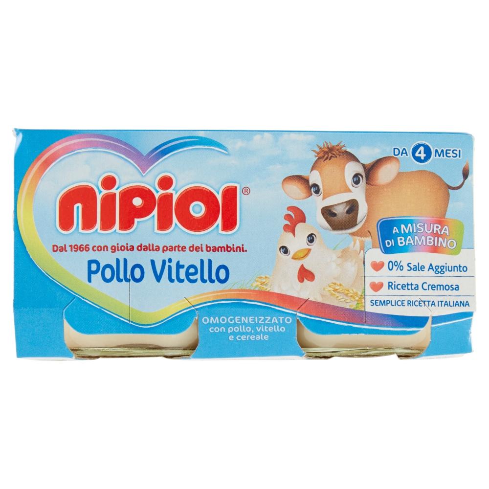 NIPIOL OMO VITELLO/POLLO 2X80GR