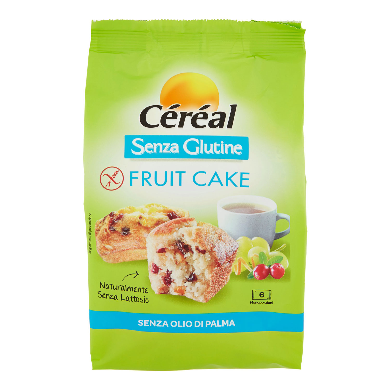 CÉRÉAL SENZA GLUTINE FRUIT CAKE 6 MONOPORZIONI