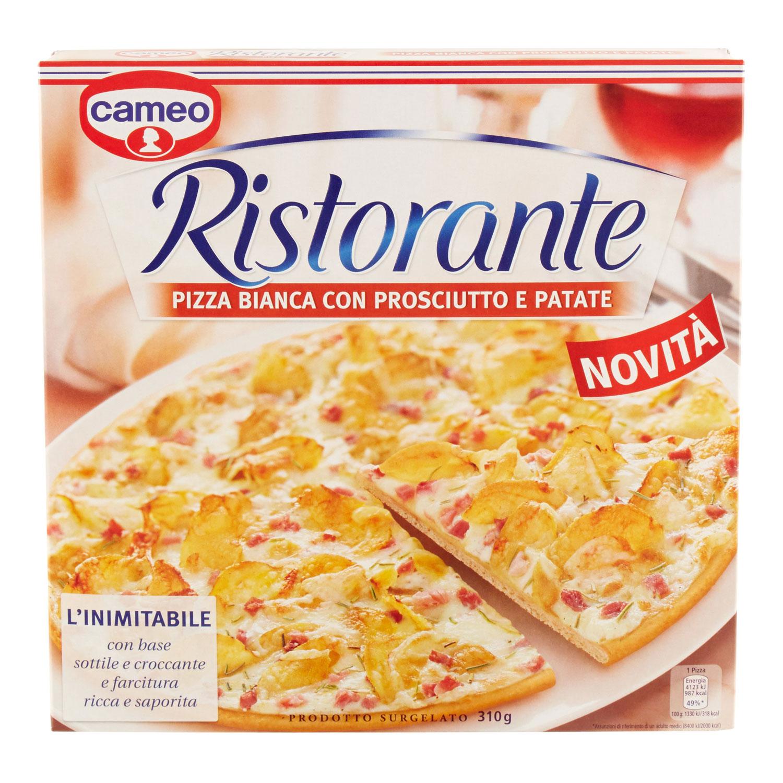 PIZZA BIANCA CON PROSCIUTTO RISTORANTE