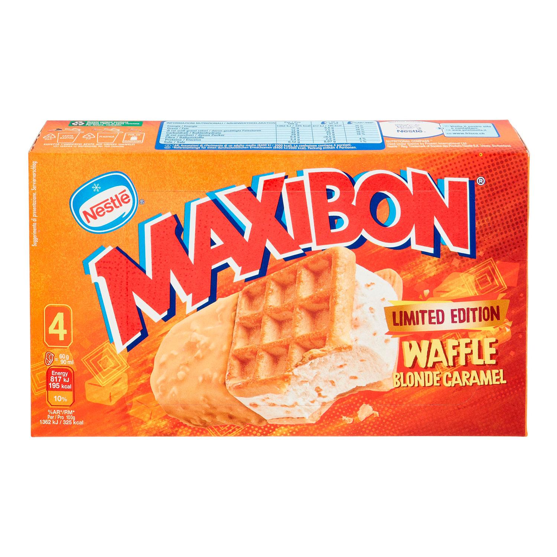 MAXIBON WAFFLE BLOND CARAMEL X4