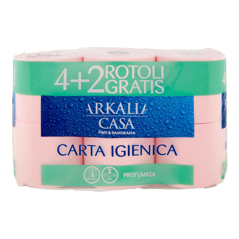 CARTA IGIENICA COLORATA 4+2 ROTOLI, 3 VELI, MORBIDA E RESISTENTE