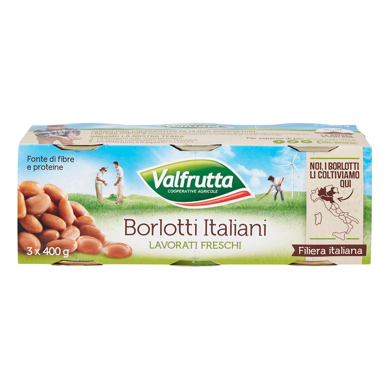 VALFRUTTA FAGIOLI BORLOTTI 3X400GR