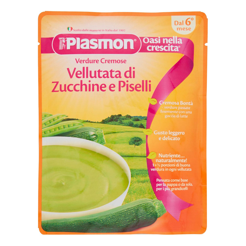PLASMON POUCHES VELLUTATA ZUCCHINE E PISELLI