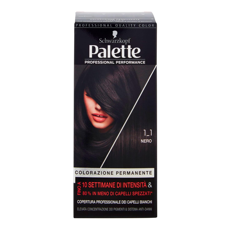 PALETTE COLORAZIONE PERMANENTE 1.1 NERO