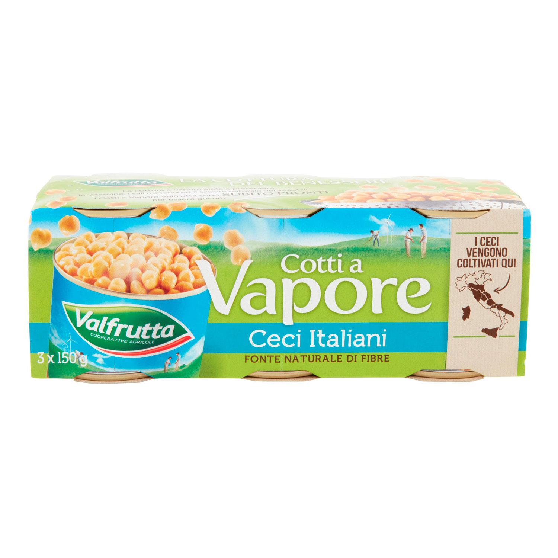 CECI ITALIANI COTTI A VAPORE 3 X 150 G
