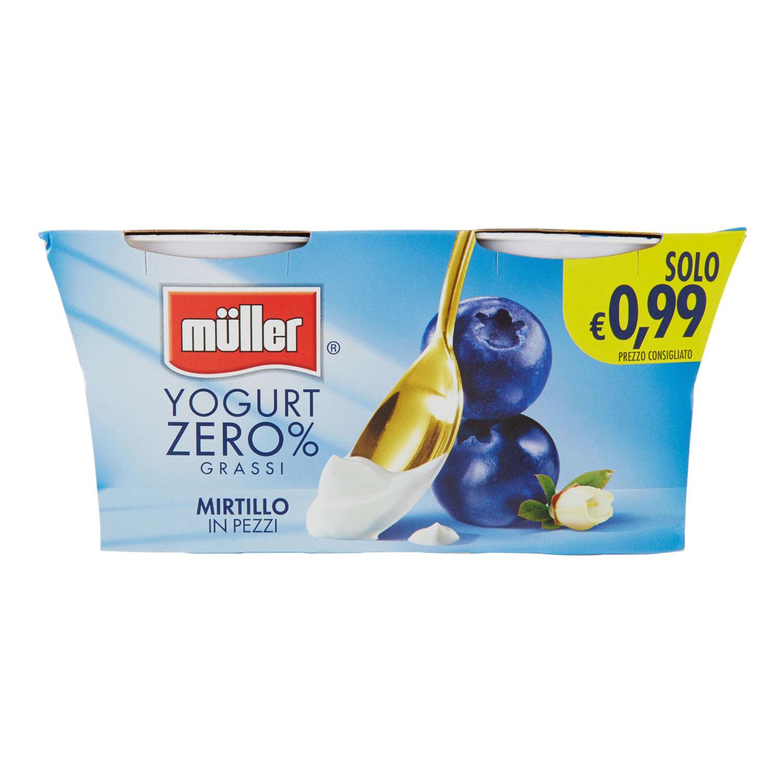CREMA YOGURT 0.1 MIRTILLO     2 X 125 GR  MULLER