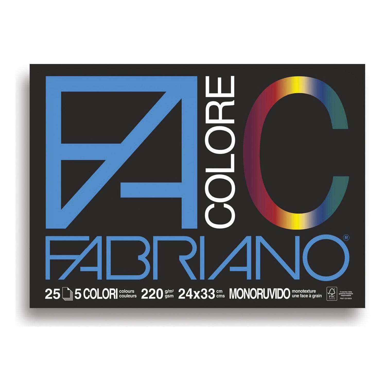 BLOCCO COLORE gr220 5col.24x33