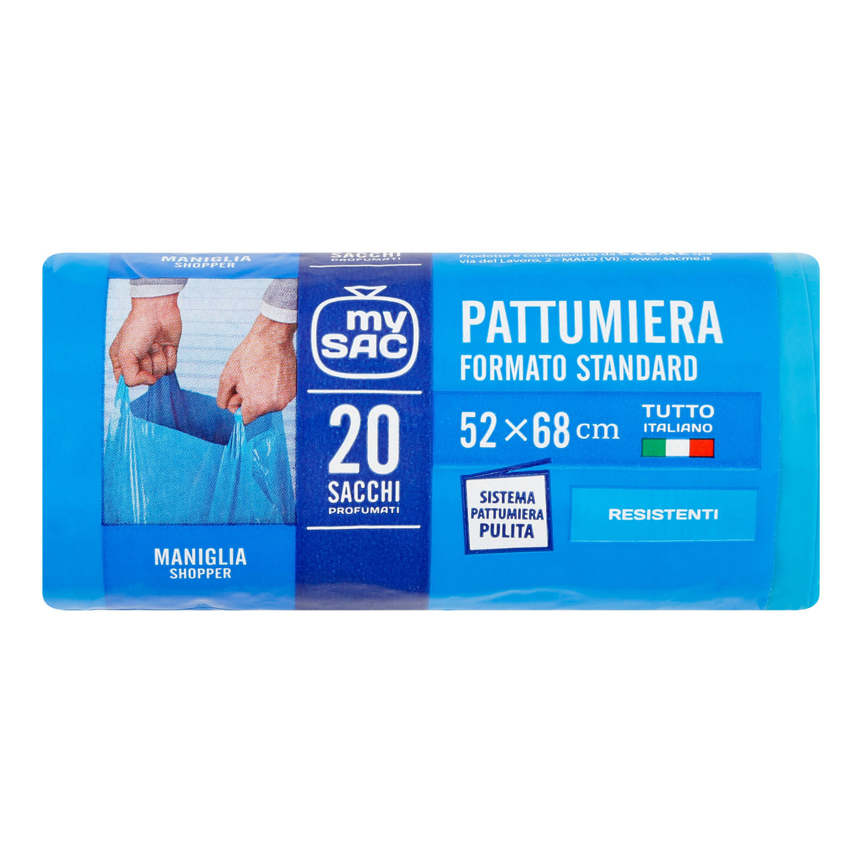SACME SACCHETTI  PATTUMIERA AZZURRO  52X68 CM