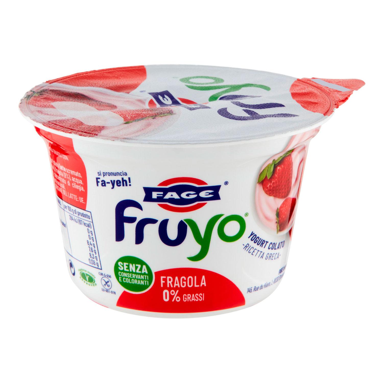 YOGURT FRUYO 0% GRASSI CON PEZZI DI FRAGOLA