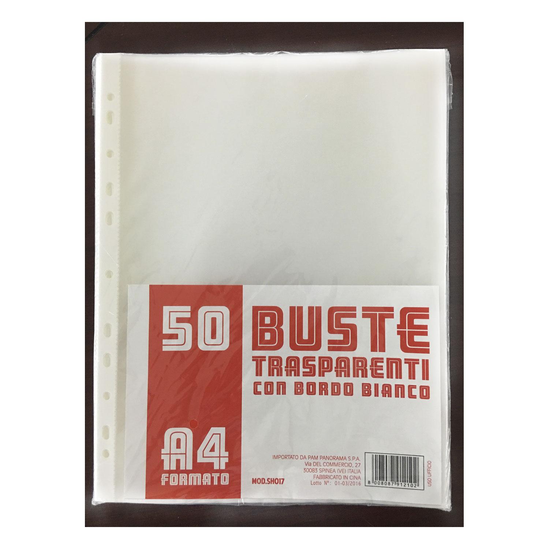 50 BUSTE TRASPARENTI A4