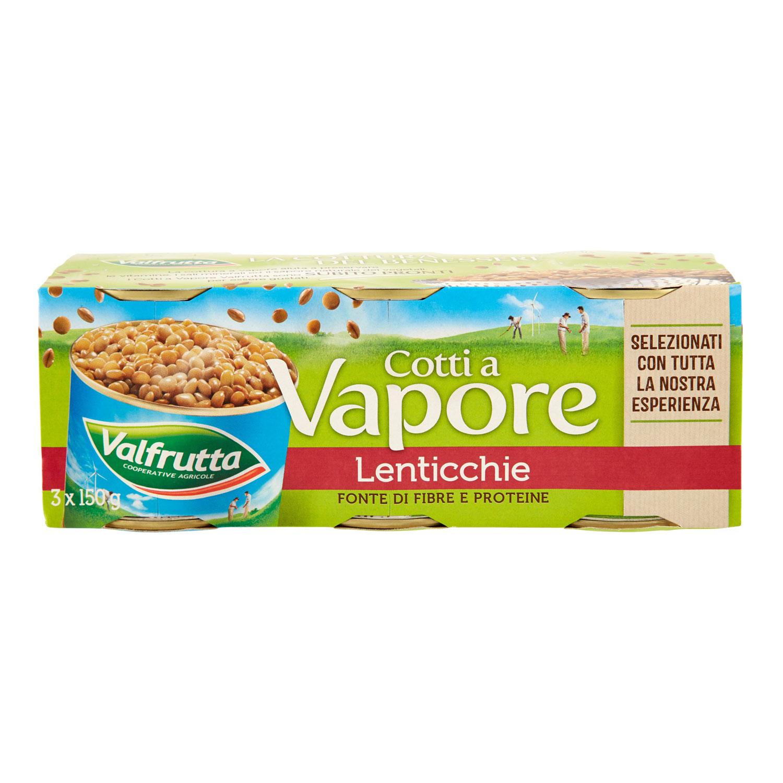 LENTICCHIE COTTE A VAPORE VALFRUTTA GR.150 X3 SGOCC 140X3