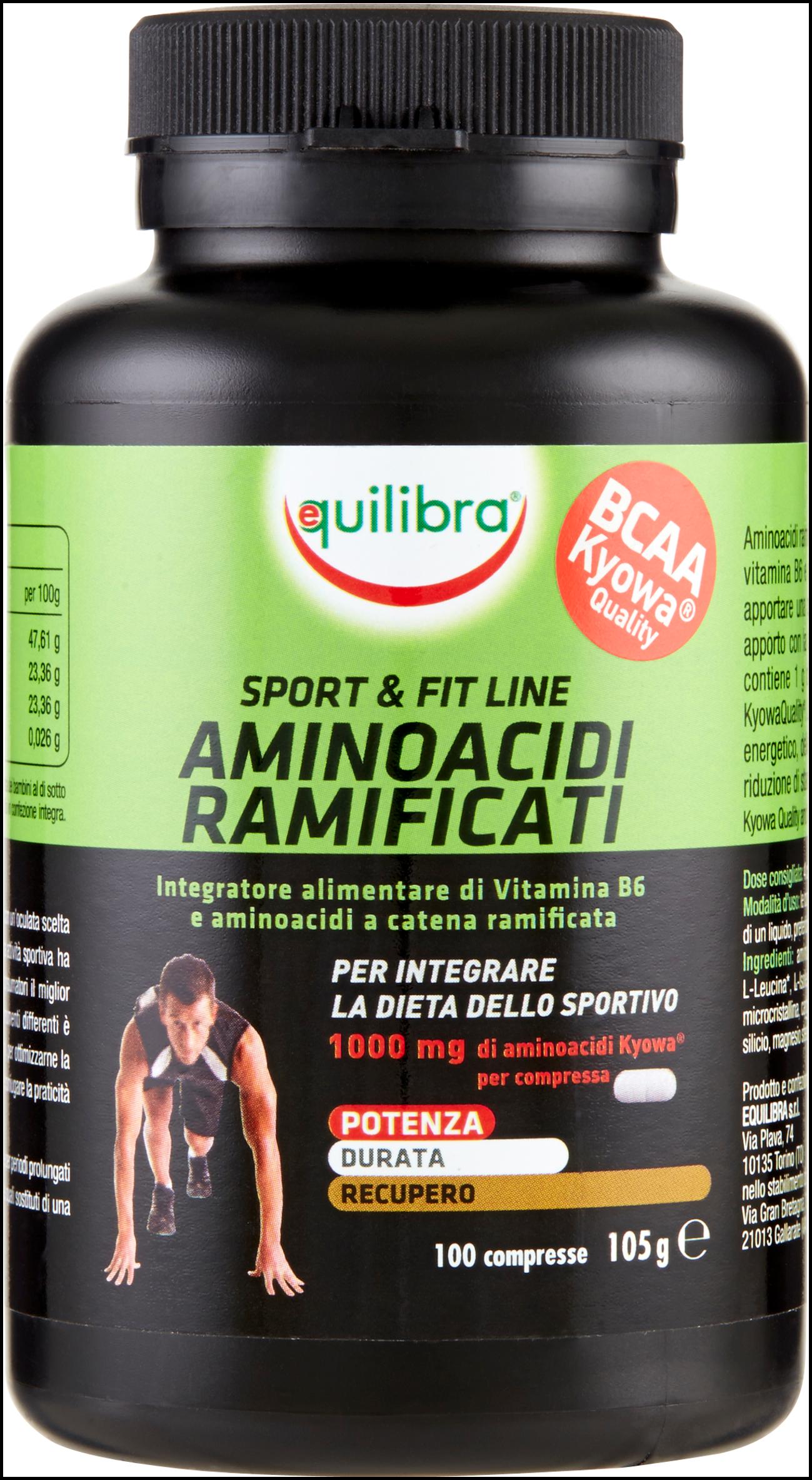 AMINOACIDI RAMIFICATI EQUILIBRA  100CPS