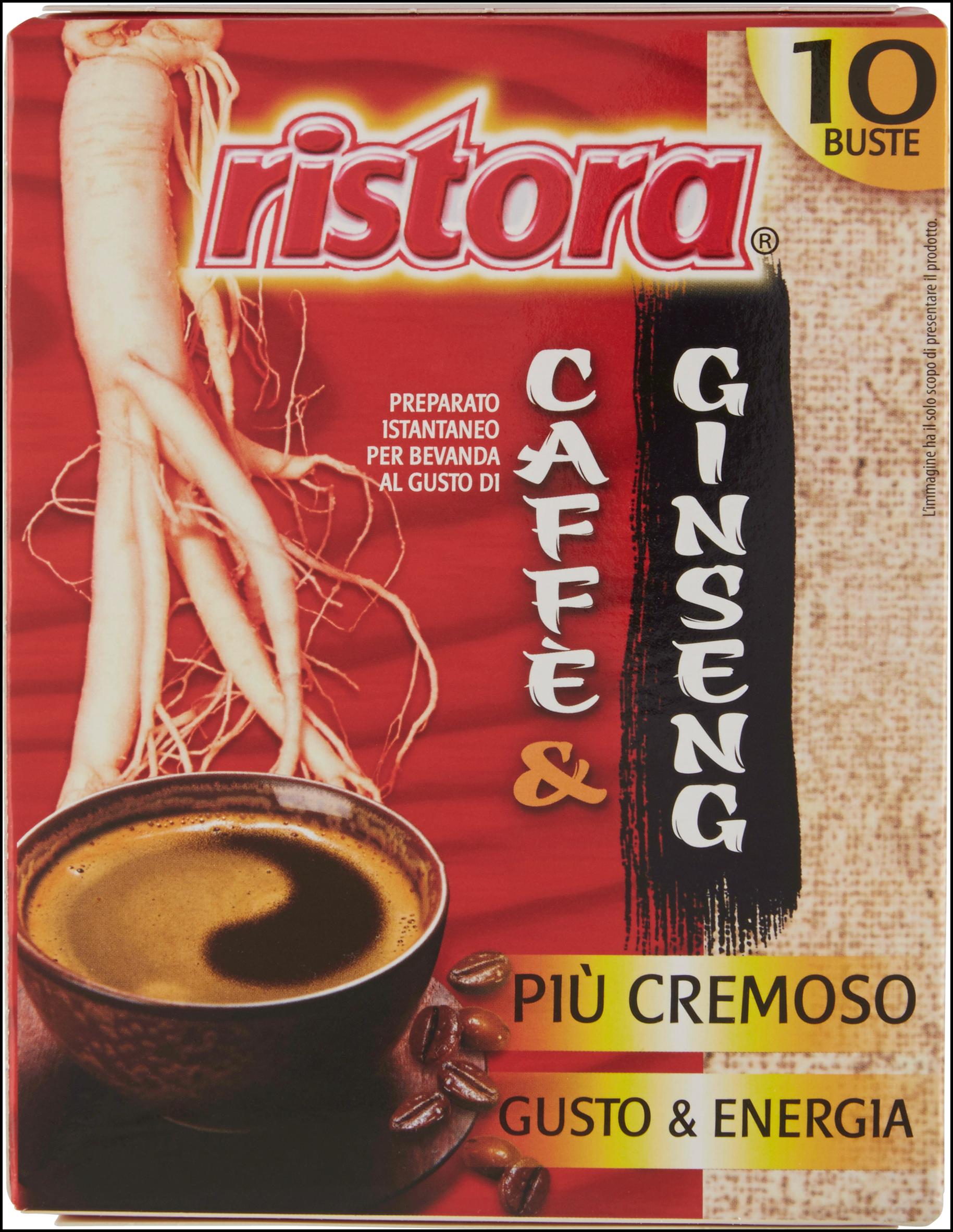 CAFFE' ISTANTANEO RISTORA 10GX10 GINSENG