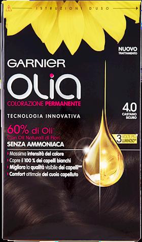 COLORAZ.PER CAPELLI OLIA' 4.0 CAST.SCURO