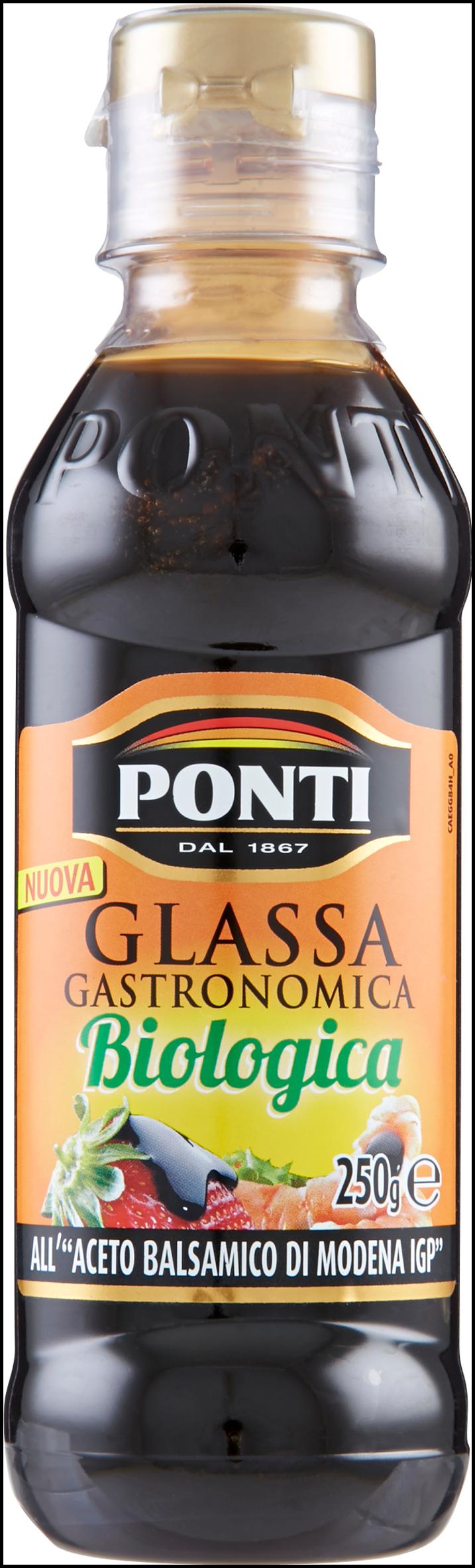 GLASSA ACETO BALSAMICO PONTI 250ML BIO