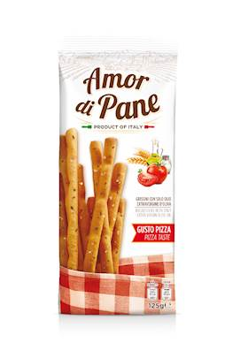 GRISSINI AMOR DI PANE 125G PIZZA