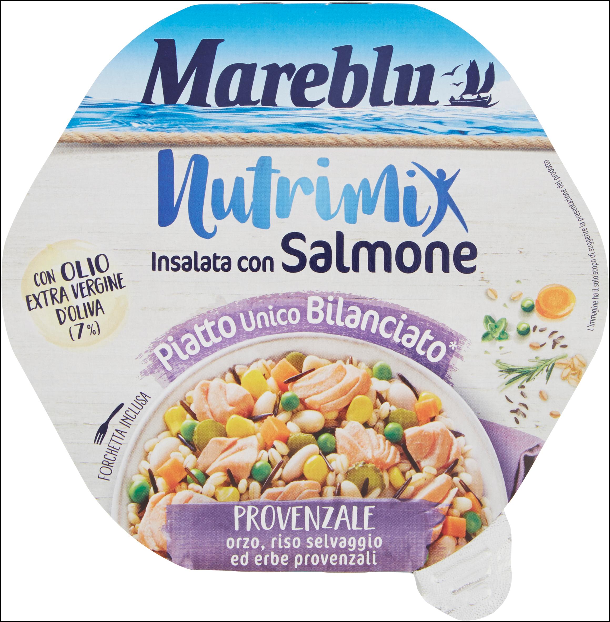 INSALATA NUTRIMIX MAREBLU' 220G SALMONE