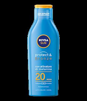 LATTE NIVEA SUN 200ML PROT&BRONZE FP 20