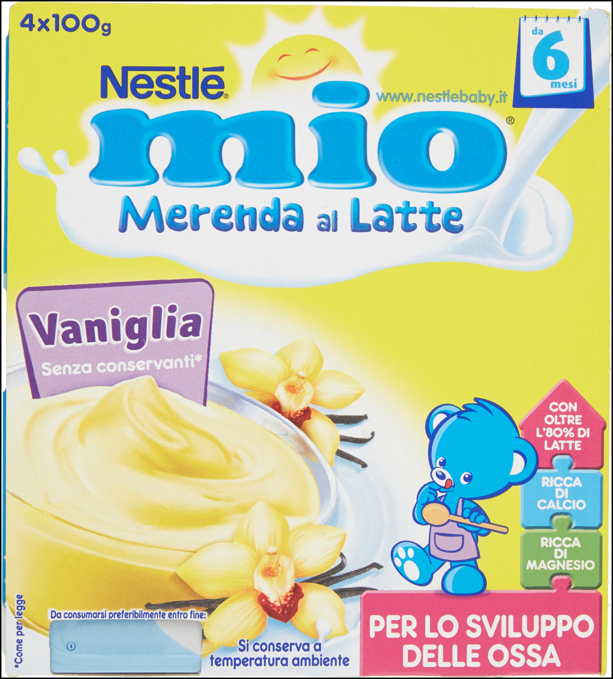 MERENDA NESTLE' MIO 100GX4 VANIGLIA