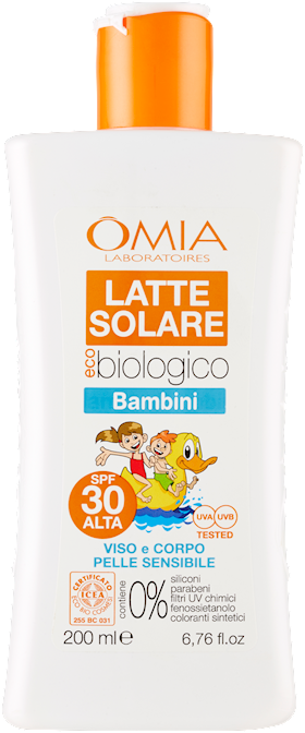 OMIA ECOBIOSUN LATTE S.BAMBINI   SPF30