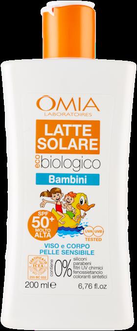 OMIA ECOBIOSUN LATTE S.BAMBINI   SPF50+