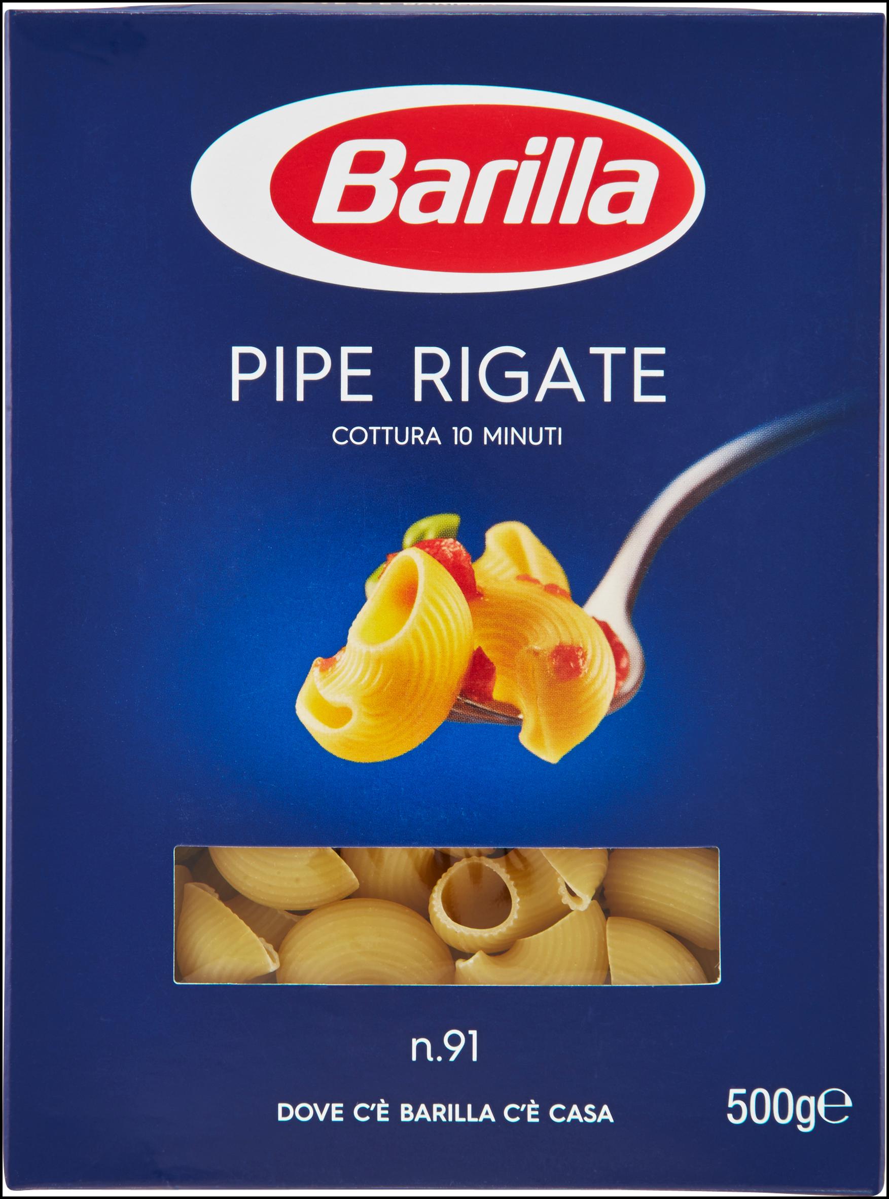 PIPE RIGATE 91 BARILLA 500G