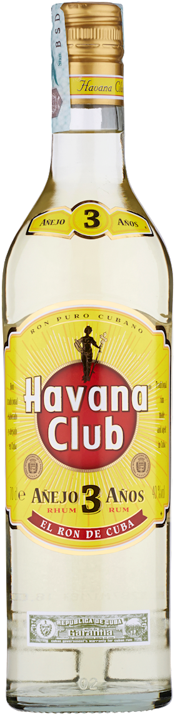 RUM HAVANA CLUB 3 ANOS 70CL