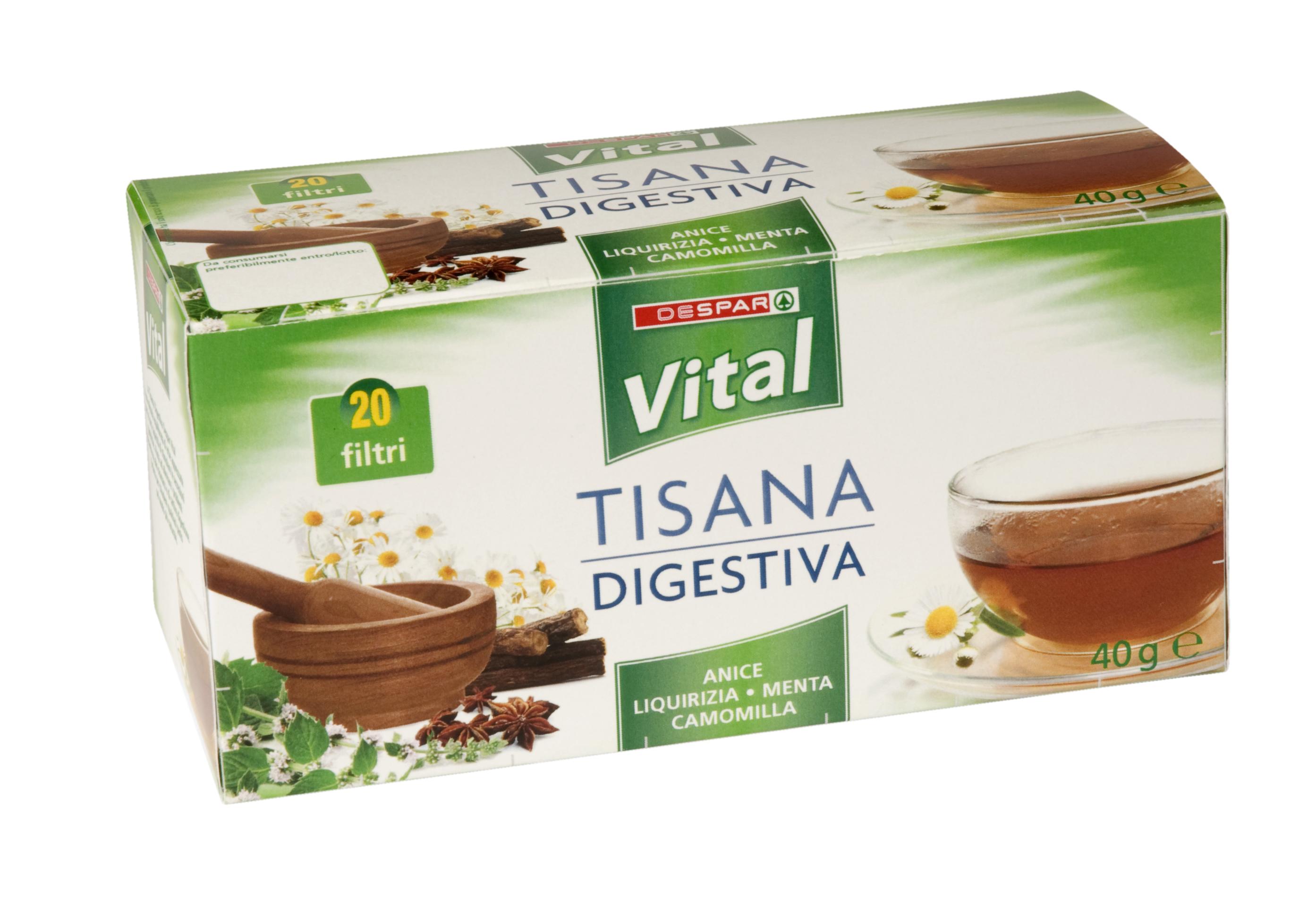 TISANA  DIGESTIVA  20F  VITAL  40g