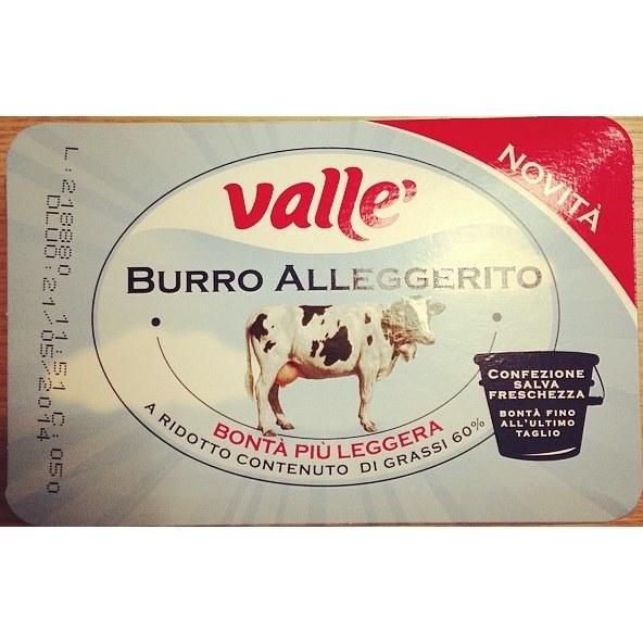 Burro alleggerito Vallè