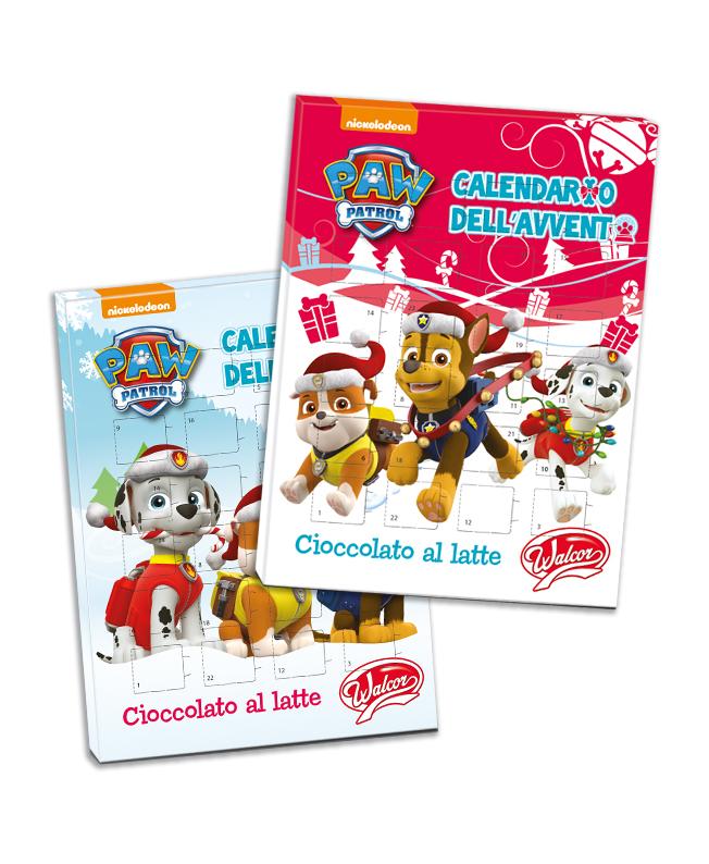 Calendario Avvento Cioccolato.Calendario Avvento Con Cioccolatini Paw Patrol Walcor