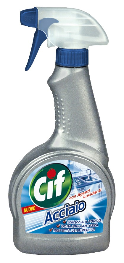 Cif acciaio spray