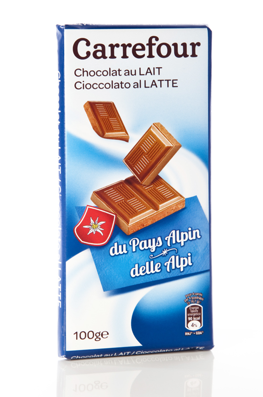 Cioccolato al latte delle Alpi Carrefour