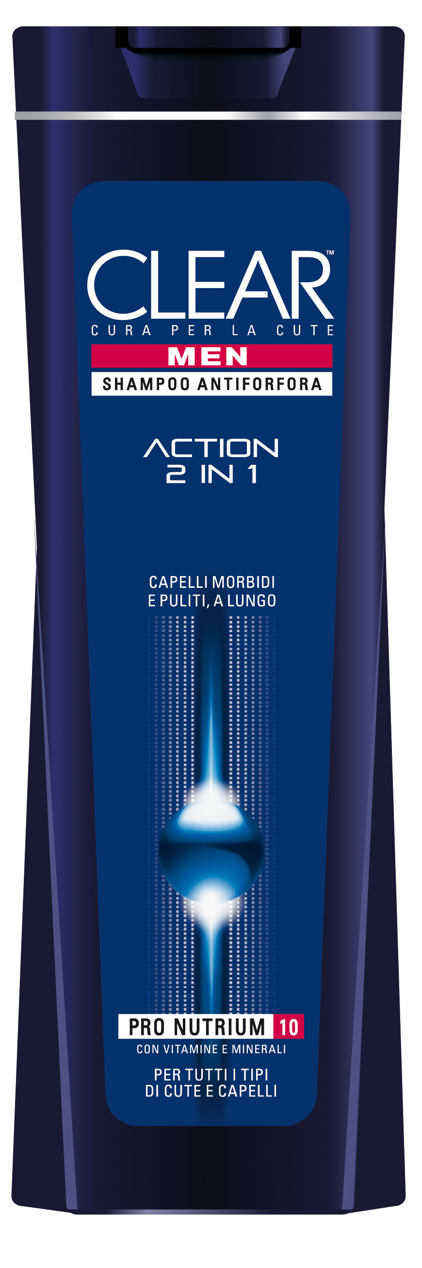 Clear Shampoo For Men 2in1 Action