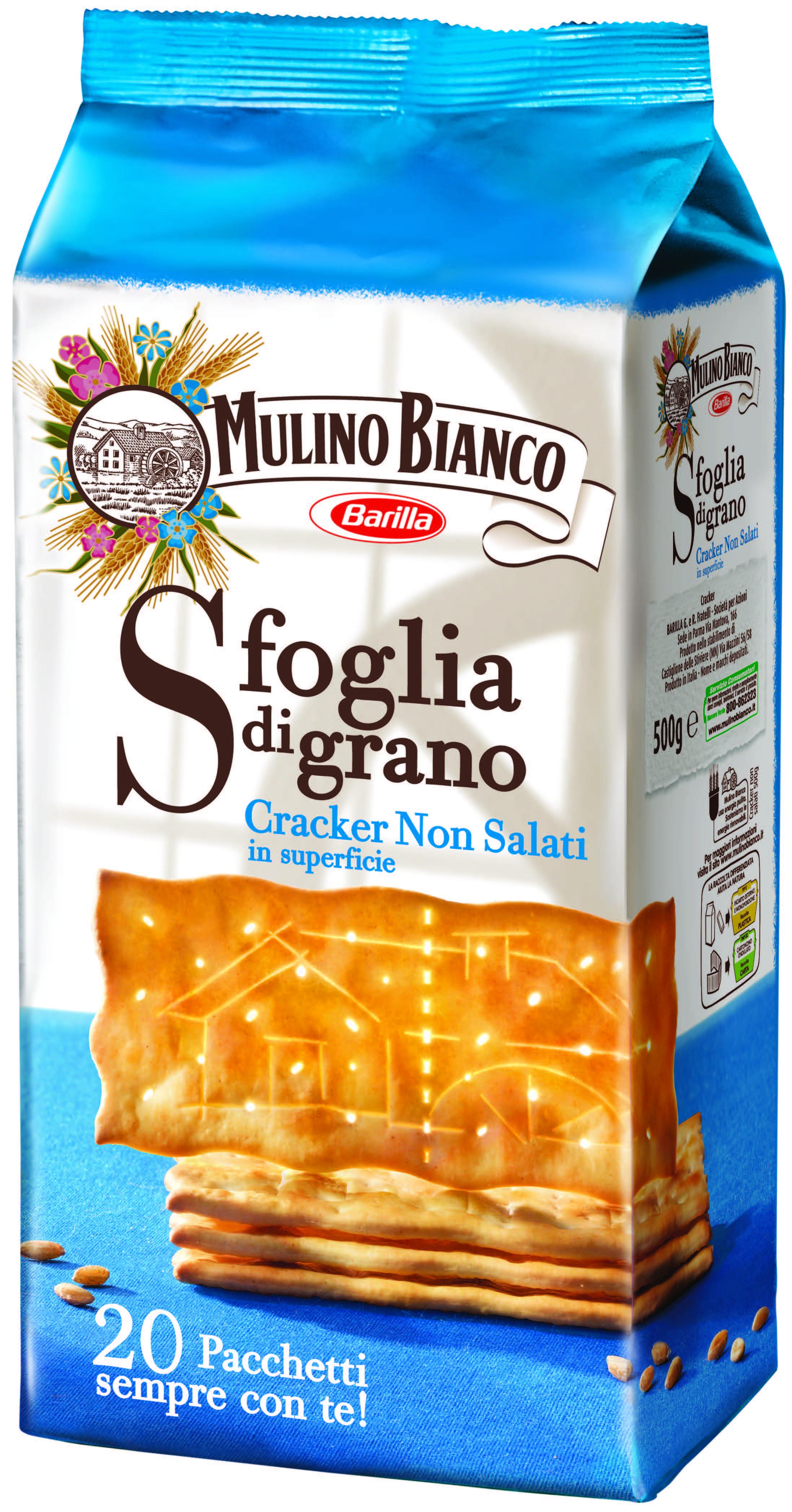 Crackers Sfoglia di Grano non salati Mulino Bianco