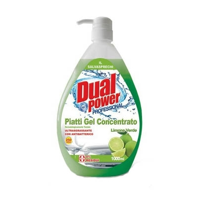 Detersivo Concentrato Gel Piatti Limone Dual Power