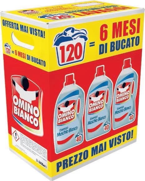 Detersivo liquido lavatrice Omino Bianco