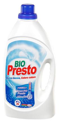 Detersivo liquido per lavatrice Bio presto