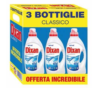 Detersivo liquido per lavatrice Dixan