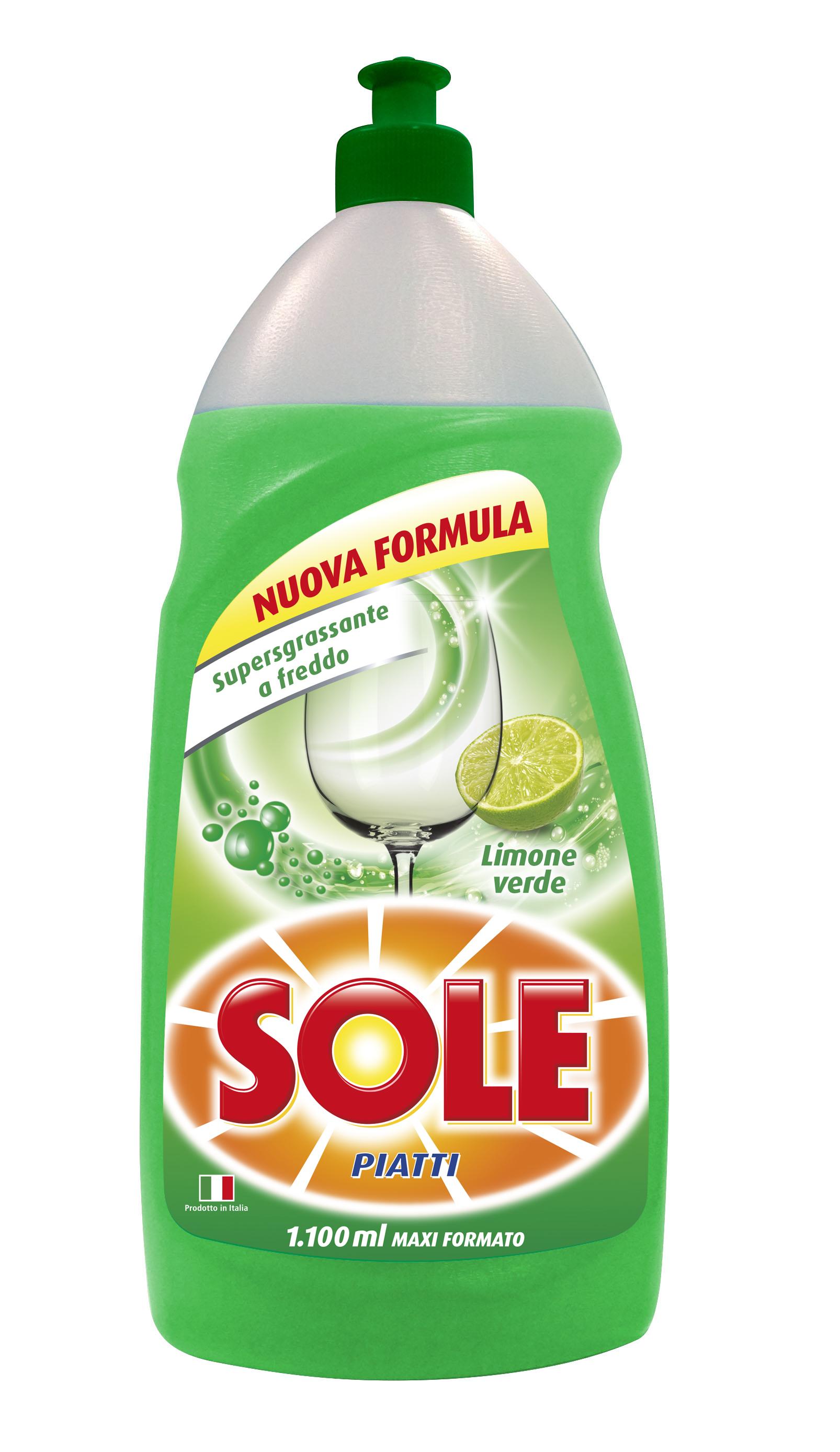 Detersivo piatti al limone verde Sole