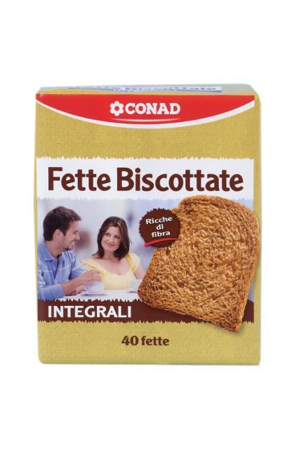 Fette Biscottate Integrali Conad