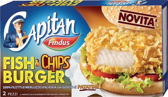 Fish & Chips burger Findus