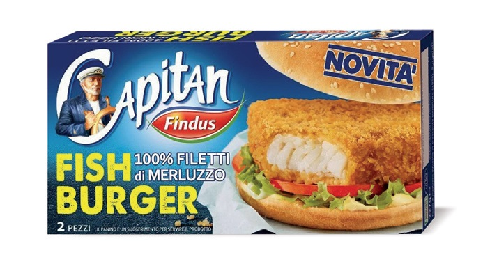 Fish burger Findus