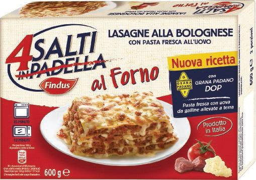 Lasagne al forno 4 salti in padella findus findus for Cucinare 4 salti in padella