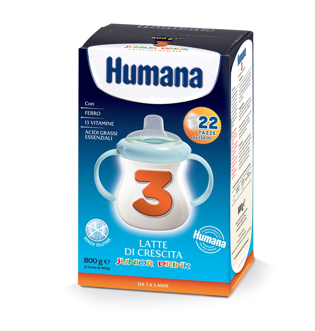 Latte Junior Drink Humana 3 polvere