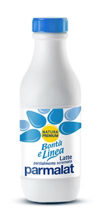 Latte parzialmente scremato UHT Bontà e Linea Parmalat