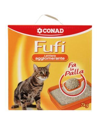 Lettiera per gatti agglomerante fufi conad conad for Migliore lettiera per gatti
