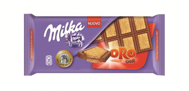 Tavoletta di cioccolato Milka con Oro ciok