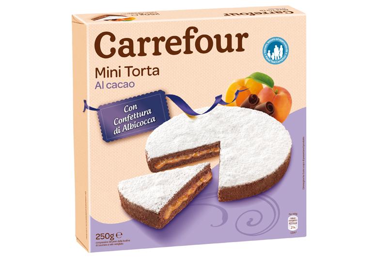 Mini torta con cacao e albicocca Carrefour
